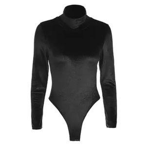 Tops - 🆕 Velvet turtleneck bodysuit Black